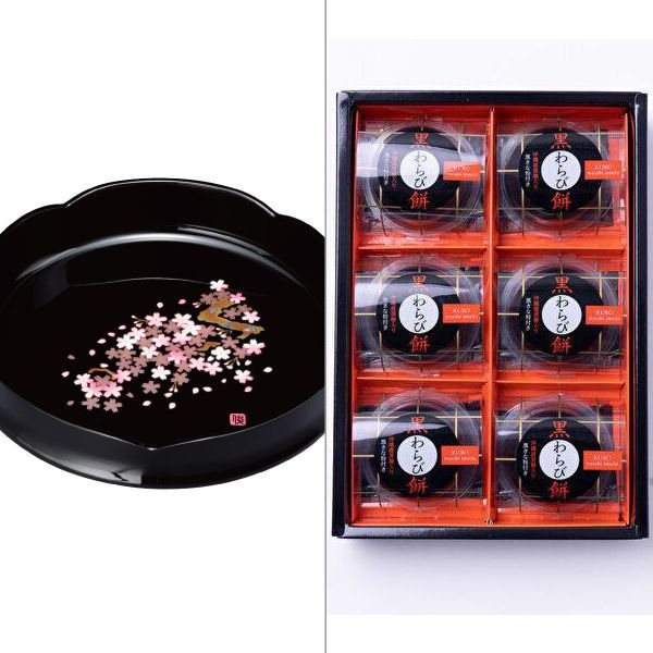 紀州塗 雅桜菓子鉢 2点セット