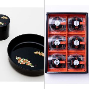 和み春秋菓子鉢・茶筒揃え 2点セット