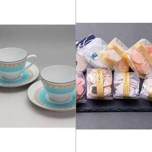 Noritake(ノリタケ) ハミングブルー 碗皿ペア 2点セット