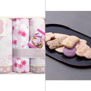 【和のこころさくら】ガーゼパイルと甘撚りパイルのタオルセット 2点セット