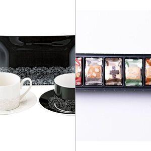 【ニナ・リッチ】トレー付ペアコーヒーセット 2点セット