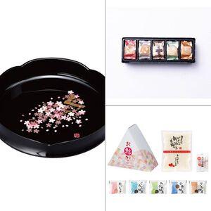 紀州塗 雅桜菓子鉢 3点セット