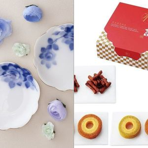 Noritake(ノリタケ) ブルーローズ 梅型小皿ペアセット 2点セット