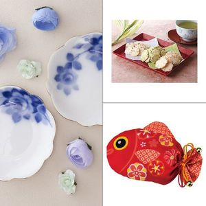 Noritake(ノリタケ) ブルーローズ 梅型小皿ペアセット 3点セット
