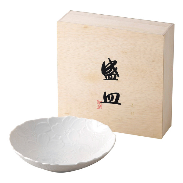 花白磁 盛皿
