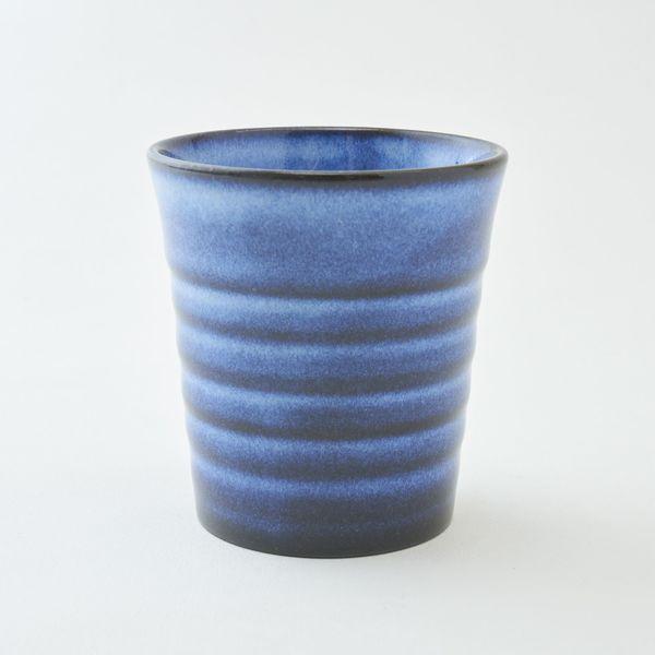 萩焼 るり色 ペアカップ