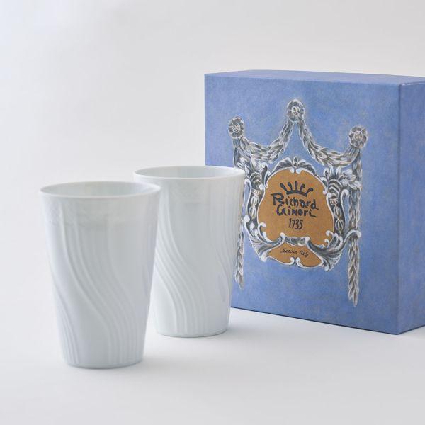 記念品 洋グラス リチャードジノリ ベッキオ ジノリ ホワイト ペアタンブラー