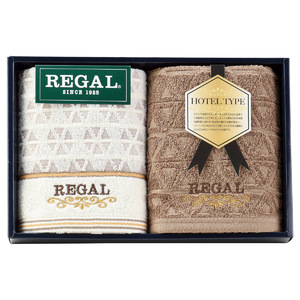 REGAL(リーガル) ブラウニー フェイスタオル2P