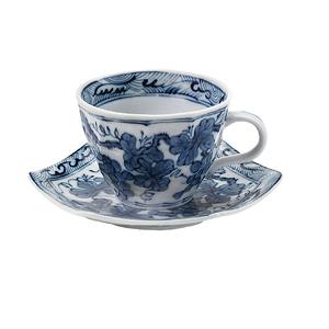 染付ぶどうコーヒー碗皿