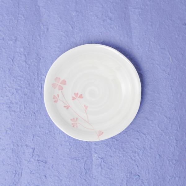 記念品 和食器類 色彩クローバー小皿10P