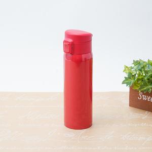 ソワレ ワンタッチステンレスボトル450ml(レッド)