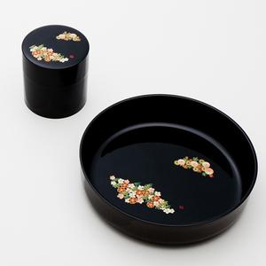 和み春秋菓子鉢・茶筒揃え