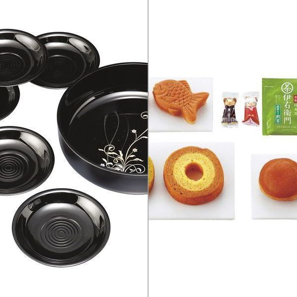 紀州塗 華もだん 菓子鉢・茶托揃え 2点セット