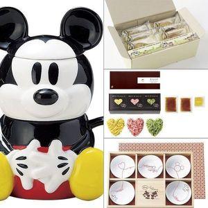 Disney <ミッキー>小鉢揃(木箱入) 4点セット