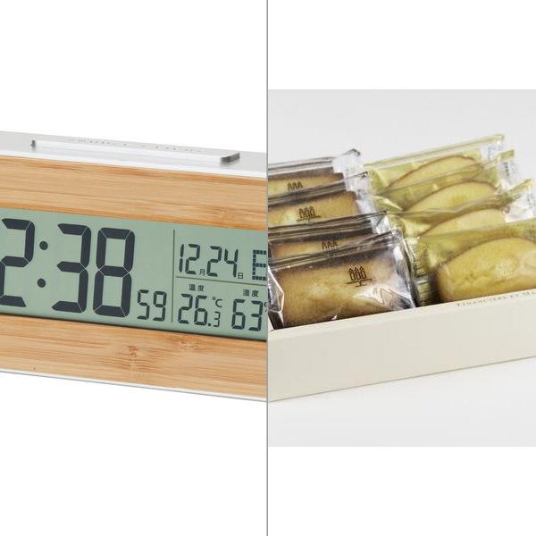 <アデッソ>竹の電波時計 2点セット