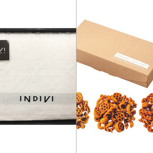 INDIVI(インディビ) カラット バスタオル 2点セット