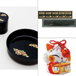 和み春秋菓子鉢・茶筒揃え 3点セット