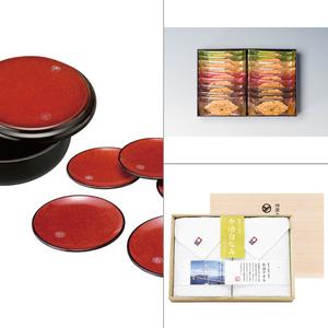 紀州塗 布目杢明月菓子器・銘々皿揃え 3点セット