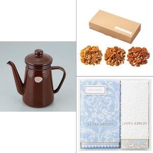 【カフェテール】コーヒーポット1.1Lブラウン 3点セット