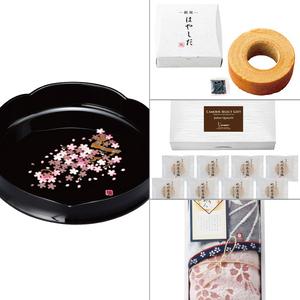 紀州塗 雅桜菓子鉢 4点セット