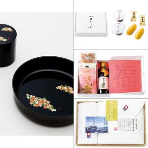 和み春秋菓子鉢・茶筒揃え 4点セット