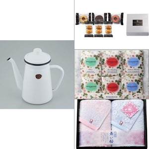 【カフェテール】コーヒーポット1.1Lホワイト 4点セット