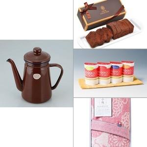 【カフェテール】コーヒーポット1.1Lブラウン 4点セット